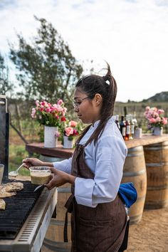 Chef Sheyla Alvarado's amazing food delighted us all.  #outdoorcooking #alfresco Sheep Cheese, Mole Sauce, Outdoor Dinner Parties, Smoked Fish, Cheese Salad, Wild Mushrooms, Rustic Outdoor, Baja California, Fish Dishes