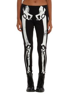 Skeleton Glow-In-The-Dark Leggings | Hot Topic