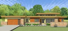 Low Slung House Plan 34002CM from Architectural Designs. Can't wait to see this built!