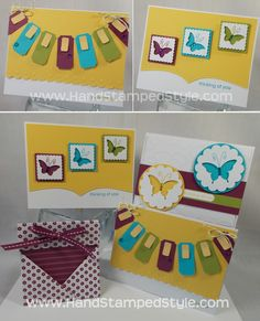 Bitty Butterfly Cards- #HandStampedStyle