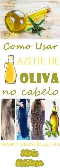 Você sabe como usar azeite de oliva no cabelo? Hoje vamos falar um pouco desse ingrediente que tem se tornado um queridinho nas receitas caseiras para quem deseja ter cabelos mais nutridos e bonitos. Além disto, o azeite tem nutrientes de ação anti-inflamatória e que combatem os radicais livres. Por isso, além de ser o óleo mais indicado para a alimentação, também é muito bem-vindo para o tratamento dos cabelos. Long Hair Cuts, Long Hair Styles, Women Haircuts Long, Trending On Pinterest, Make Up Tricks, Trending Haircuts, Rapunzel, Gisele, Shampoo