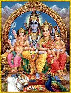 Shiva-Parvati-Ganesha-Subrahmanya