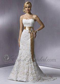 Perfect mermaid strapless sleeveless satin and lace modest wedding dress dmwd0025 - modest wedding dress