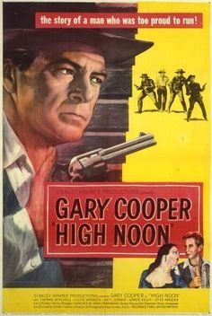 Directed by Fred Zinnemann.  With Gary Cooper, Grace Kelly, Thomas Mitchell, Lloyd Bridges. A marshall, personally compelled to face a returning deadly enemy, finds that his own town refuses to help him.