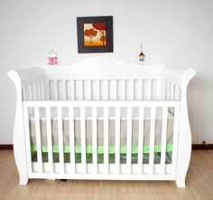 Brand New Nz Pine Canterbury Sleigh Baby Cot 3-1 With Drawer/ Teeth Rail/ Toddle