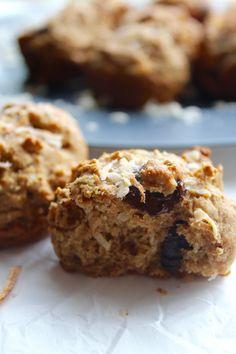 Vegan Coconut Chocolate Chip Muffins // pumpkin and peanut butter