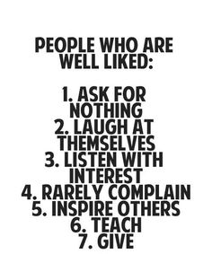 People who are more liked