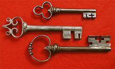 15th - 17th Century Chest Lock Keys