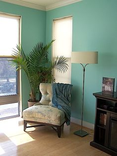 """Sherwin Williams """"Aqueduct"""". This will be the color of my renovated pantry. Bathroom color?"""