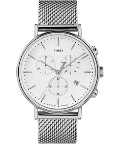 We think you'll love this tastefully simple watch with a stainless steel mesh bracelet. The Fairfield Chronograph Watch is a must-have. Shop Timex Watches. Timex
