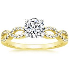 Infinity - Unique 18K Yellow Gold Engagement Ring