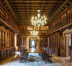 Sala lettura della biblioteca dell'Istituto Veneto di Scienze Lettere e Arti, a Venezia. Foto del fotografo Reinhard Görner