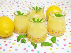 Vasitos con Crema de limón Cantaloupe, Pudding, Fruit, Cooking, Ethnic Recipes, Desserts, Food, Delaware, Yummy Yummy