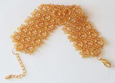 Honey Combs Beading Pattern PDF bracelet beading di Shinkabeads
