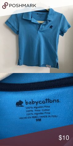 Babycottons polo shirt 9 months 100% Pima cotton from Peru. Softest little polo shirt. babycottons Shirts & Tops Polos
