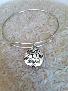 Alex and Ani inspired dream bangle Never got to see this one in person. You can bet if I did, I'd be wearing it right now. Alex And Ani Bangles, Diamond Are A Girls Best Friend, Metal Stamping, Bangle Bracelets, Jewelery, Jewelry Accessories, Jewelry Making, Bling, Gifts