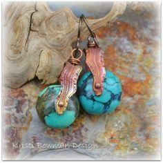 Earrings Everyday: Snakeskin Swivel by KristiBowmanDesign.etsy