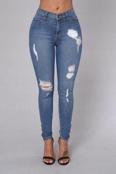 Carmen Jeans #MediumWash #MidRise #GoldAnkleZipper