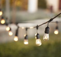 Would love to get string lights like this for our deck now that it is warm and we are out there so much!