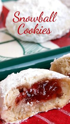 Jam-Filled Snowball Cookies ~ These are sweet and flaky with a delicious surprise in the middle!