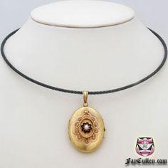 Victorian Etruscan Locket Necklace