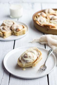 Easy Fluffy Eggnog Cinnamon Rolls recipe by Half Baked Harvest