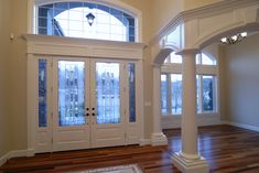 When it comes to adding value to your home, even a small detail like trim work can go a long way. Here are some things to consider when updating your trim work in a way that can add value to your home. Installing French Doors, House Paint Interior, Trim Work, Simple Interior, Types Of Flooring, Good House, Fashion Room, Exterior Doors, House Painting