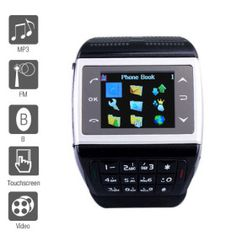 ET – 1.4 Inch Watch Cell Phone Black (FM, MP3 MP4 Player) |  Whole Sale