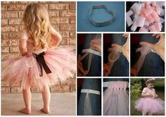My daughter loves tutu and like dancing with it .Every little princess deserves a pretty tutu. This classic tulle tutu is a perfect project for beginner Diy Tutu, No Sew Tutu, Tutorial Tutu, Robes Tutu, Tutu Dresses, How To Make Tutu, Little Ballerina, Cool Art Projects, Diy Projects