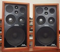 Coral BX1200 Speakers vintage audio