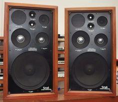 Coral BX1200 Speakers vintage audio