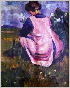 Mario Tozzi 1919: Figura nel Paesaggio. Olio su Tela cm.73x60 - Collezione Privata - Archivio n.1169 - Catalogo n.19/5.