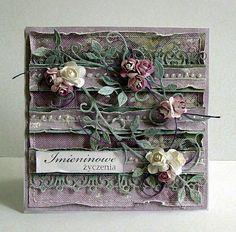 A wszystko dzięki najnowszej kolekcji   Galerii Papieru  -  Usłane różami II                Wykorzystałam wykrojniki z  Crafty Ann :    F...