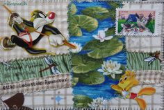 mail art, paper & fabric scraps
