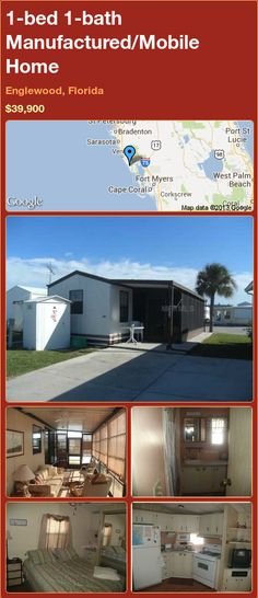 1 Bed Bath Manufactured Mobile Home In Englewood Florida 39900
