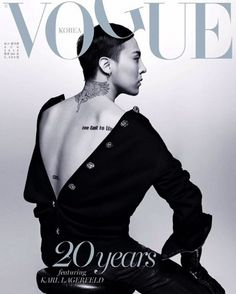 G-Dragon - The 20th Anniversary cover of Vogue Korea Magazine August Issue '16