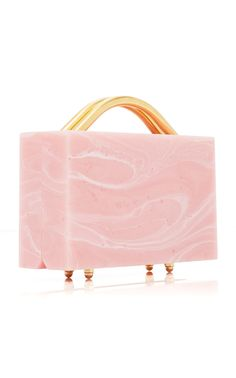 L'Afshar | M'O Exclusive Eugene Small Marble Clutch
