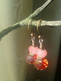 """strawberry"" earrings made by Tanja klaassen for BlinQBlinQ.nl"