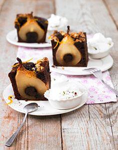 Schoko-Rotwein-Kuchen mit Birnen - Alle lieben Schokoladenkuchen! - [LIVING AT HOME]