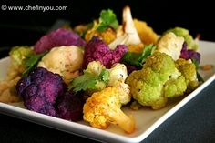 Roasted (Multicolor) Cauliflower - I will be making this tomorrow!