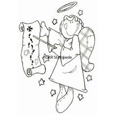 Angel Charting Digital Stamp