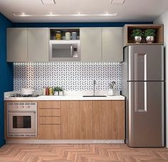 your kitchen design will maximize your small kitchen idea 41 One Wall Kitchen, Kitchen Room Design, Kitchen Cabinet Design, Modern Kitchen Design, Kitchen Layout, Home Decor Kitchen, Interior Design Kitchen, Very Small Kitchen Design, Studio Kitchen