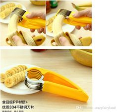 Wholesale 201 5 Banana slicer environmental cut banana artifact fruit knife cut the ham sausage banana cutter free shipping S0137, Free shipping, $4.39/Piece | DHgate Mobile