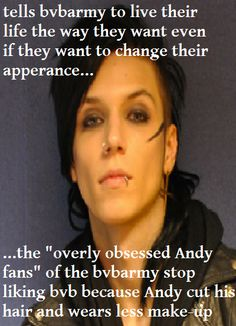andy biersack | BVB andy biersack meme by ~tiroushi on deviantART ill love him nomater how much he changes