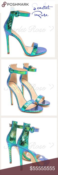 ❤️COMING SOON❤️ Blue & Green Iridescent Heels ❤️COMING SOON❤️ These Blue & Green Iridescent Python Imprint Open-Toe Heels are MAGNIFICENT! I've sold booties like this in the past, and people went wild over them. Truly a statement maker and I would dress my outfit around the heels since they really should be the focal point of the whole look. Stay tuned for more details! These will be here very soon... YAY! 🎉🎉🥂🥂 Scarlet Rose Boutique Shoes Heels