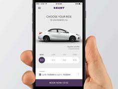 SKURT iOS App UX Revision designed by João Oliveira Simões for 44 Studio — Think Mobile. Web Design, App Ui Design, Flat Design, Graphic Design, Mobile App Design, Mobile App Ui, Interface Design, User Interface, Car App