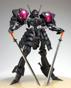 Black Knight Mortar Headd - Five Star Stories Video Game Anime, Cool Robots, Frame Arms, Mecha Anime, Suit Of Armor, Medieval Armor, Gundam Model, Figure Model, Five Star