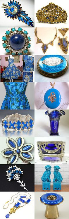 Elegant Blue Dreams #Voguet #Voguet #Antique #Vintage. These are some of the wonderful unique finds you will find in the Vintage Vogue Team shops. You may search by vogueteam to find the shops and items. Sit back relax and enjoy shopping. Celebrating Patrica Of  BrightgemsTreasures Curator: CuratorGena Lightle from https://www.etsy.com/shop/Kissisjustakiss