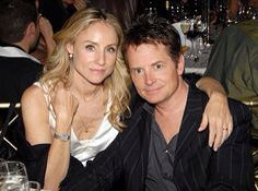 """Michael J. Fox and his wife Tracy. BOTH seem to be super sweet & devoted . and that's not always so, ESPECIALLY in """"Hollywood"""". Best Tv Couples, Famous Couples, Couples In Love, Celebrity Couples, Celebrity Pictures, Power Couples, Hollywood Couples, Hollywood Celebrities, Famous Duos"""