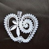 Hledání zboží: paličkování / Zboží | Fler.cz Bobbin Lace Patterns, Lacemaking, Lace Heart, Lace Jewelry, Lace Flowers, Lace Detail, Tatting, Diy And Crafts, How To Make
